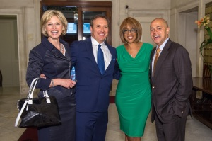Current and past WFSBers Denise D'Ascenzo, Dennis House, Gayle King and David Ushery
